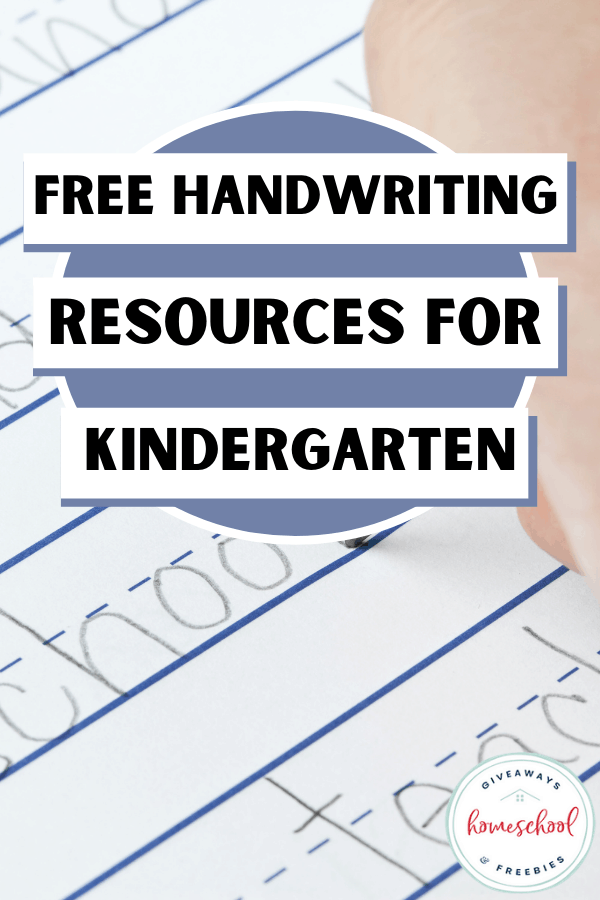 child writing on lined handwriting paper with text overlay