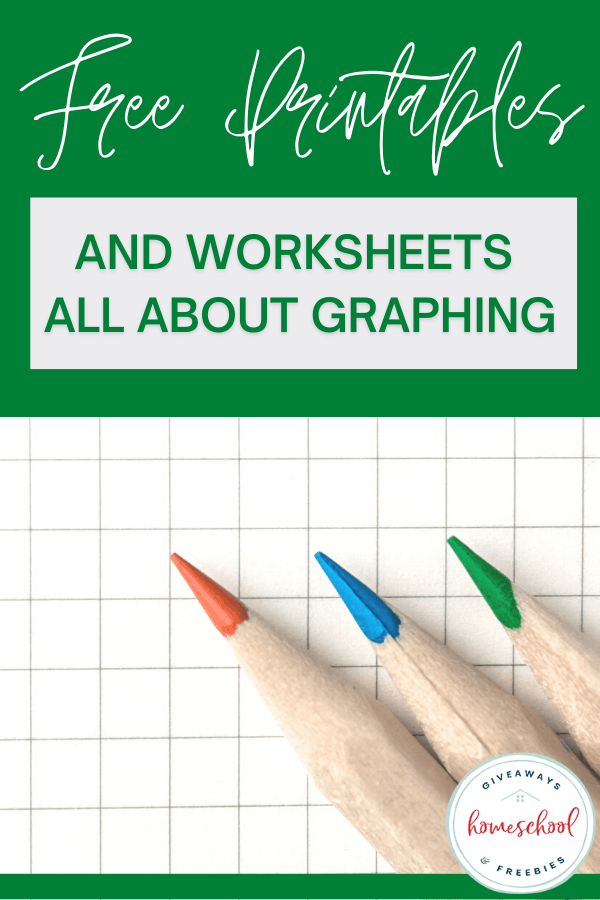 graphing paper with colored pencils and text overlay