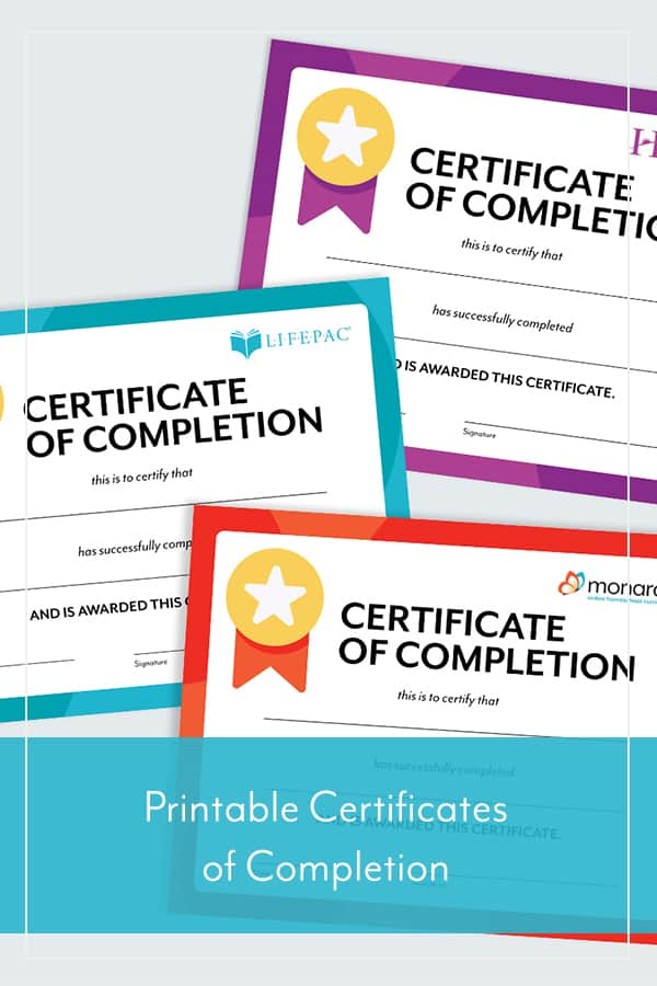Another year of hard work is in the books (or the computer). Reward your homeschooling student for completing the school year with our printable Certificate of Completions. Don't forget to post a picture of your homeschool award with your child and tag us on Facebook or Instagram with the hashtag #AOPHomeschoolAwards  Download Monarch Certificate of Completion  Download Horizons Certificate of Completion  Download LIFEPAC Certificate of Completion  Additional Resources Certificate of Achievement End-of-Year Homeschool Checklist School Year Memories: Free Printable