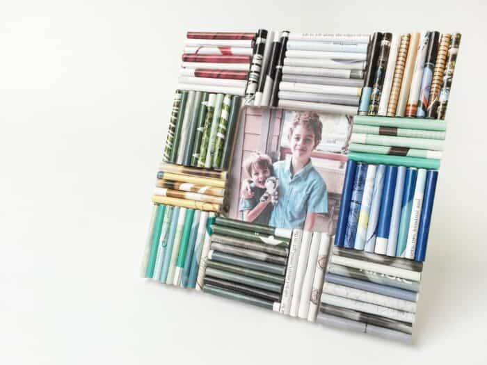 rolled picture frame