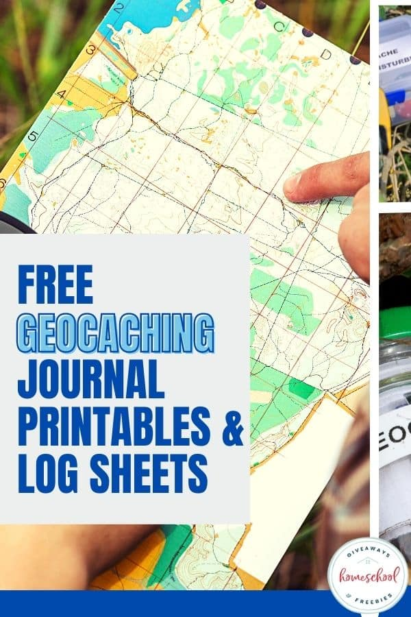 looking at a map with text overlay Free Geocaching Journal Printables & Logs