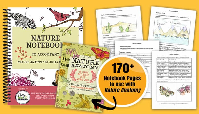Nature Notebook and Nature Anatomy with notebooking pages